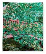 Matthiessen State Park Bridge False Color Infrared No 1 Fleece Blanket