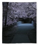 Matthiessen State Park Bridge False Color Infrared No 2 Fleece Blanket