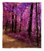 Matthiessen State Park Trail False Color Infrared No 2 Fleece Blanket
