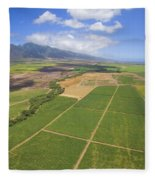 Maui Farmland Fleece Blanket