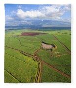 Maui Sugar Cane Fleece Blanket