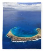 Maui, View Of Islands Fleece Blanket