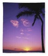 Maui, Wailea, Sunset Fleece Blanket