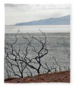 Maui's View Of Lanai Fleece Blanket
