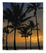 Mauna Loa Sunset - Big Island Hawaii Fleece Blanket