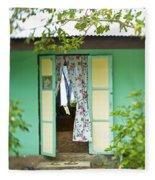 Maupiti Doorway Fleece Blanket
