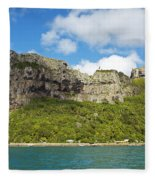 Maupiti Island Cliff Fleece Blanket