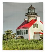 Maurice River, New Jersey, East Pointe  Lighthouse Fleece Blanket