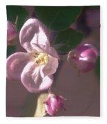 Mauve Blossom Fleece Blanket