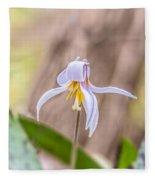 Mauve Trout Lily Fleece Blanket