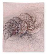Mauviteer Ferns Fleece Blanket
