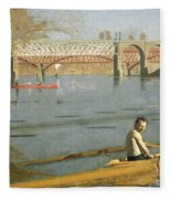 Max Schmitt In A Single Scull Fleece Blanket