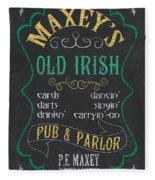 Maxey's Old Irish Pub Fleece Blanket