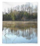 May Morning Mississippi River Fleece Blanket