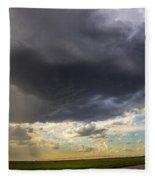 May Nebraska Storm Cells Fleece Blanket