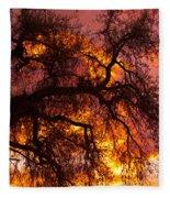 May One Sunset Fleece Blanket