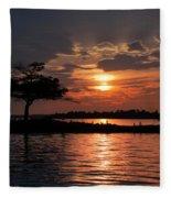 May Sunset At Detroit Point Fleece Blanket