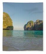 Maya Bay Sunrise Fleece Blanket