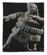 Mayan Athlete, 700-900 A.d Fleece Blanket