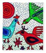 Mayan Birds Fleece Blanket