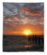 Mayan Riviera Sunrise Fleece Blanket
