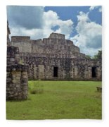 Mayan Ruins 3 Fleece Blanket