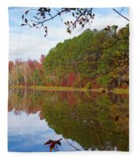 Mayor's Pond, Autumn, #7 Fleece Blanket