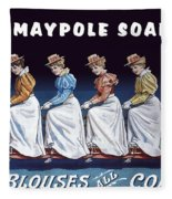Maypole Soap Retro Vintage Ad 1890's Fleece Blanket