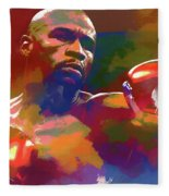 Mayweather Watercolor Fleece Blanket