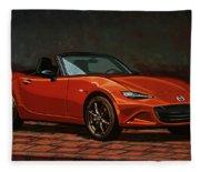 Mazda Mx-5 Miata 2015 Painting Fleece Blanket