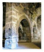 Maze Of Arches Fleece Blanket