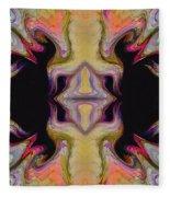 Maze Of Colors Fleece Blanket