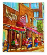Mazurka Cafe Fleece Blanket
