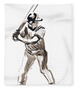 Mbl Batter Up Fleece Blanket