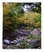 Mcarthur Bridge Over The Roaring Branch Fleece Blanket