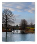 Mcbride Arboretum Winter Morning Fleece Blanket