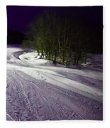Mccauley Evening Snowscape Fleece Blanket