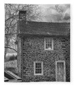 Mcconkey Ferry Inn Black And White Fleece Blanket
