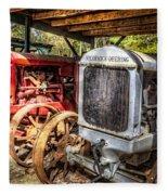 Mccormick Deering Tractors II Fleece Blanket