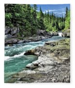 Mcdonald Creek 2 Fleece Blanket