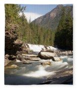 Mcdonald Creek 2 Fleece Blanket