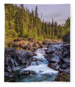 Mcdonald Creek Falls Fleece Blanket