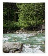 Mcdonald Creek Panorama Fleece Blanket
