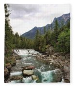 Mcdonald Falls - Glacier Fleece Blanket
