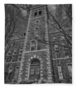 Mcgraw Hall - Bw Fleece Blanket