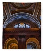 Mcgraw Rotunda Nypl Fleece Blanket