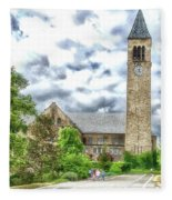 Mcgraw Tower Cornell University Ithaca New York Pa 10 Fleece Blanket
