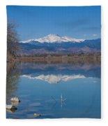 Mcintosh Lake Reflections Fleece Blanket