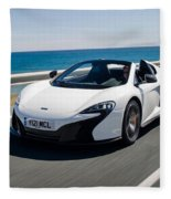 Mclaren 650s Spider Fleece Blanket
