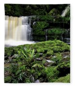 Mclean Falls In Southland New Zealand Fleece Blanket